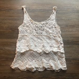 American Eagle Crochet Boho Tank Top